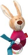 """Зайче - Мека бебешка играчка с дрънкалка от серията """"Red Stars"""" - играчка"""