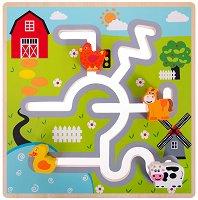 Ферма - Дървена образователна играчка -