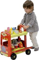 Подвижен камион за храна - Детски комплект за игра с аксесоари -