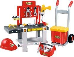Детска работилница с инструменти - Механик 4 в 1 - Комплект за игра - играчка