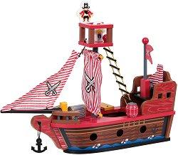 Пиратски кораб - Дървена играчка -