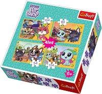 """Хубави спомени - Комплект от 4 пъзела от серията """"Littlest Pet Shop"""" -"""
