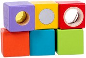Образователни кубчета - Детска дървена играчка -