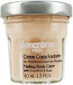 Blancreme Melting Body Cream with Grapefruit & Basil - Топящ се крем за тяло с грейпфрут и босилек в стъклено бурканче -
