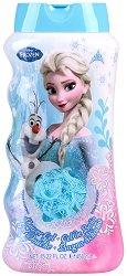 """Детски комплект от душ гел и гъба за баня - Frozen - От серията """"Замръзналото кралство"""" -"""