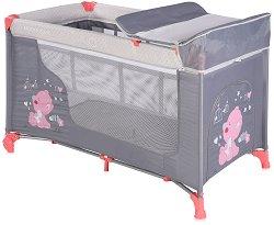 Сгъваемо бебешко легло на две нива - Moonlight 2 Layers - Комплект с повивалник - продукт