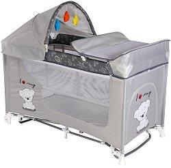 Сгъваемо бебешко легло на две нива - Moonlight 2 Layers Rocker - С люлеещ механизъм -