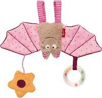 Прилеп - Мека бебешка играчка с дрънкалка -