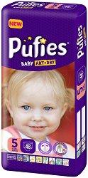 Pufies Baby Art & Dry New 5 - Junior - Пелени за еднократна употреба за бебета с тегло от 11 до 20 kg -
