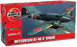 Японски военен самолет - Mitsubishi KI-46-II Dinah - Сглобяем авиомодел -