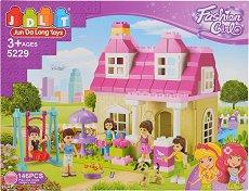 Детски конструктор - Къща - Комплект от 146 части -
