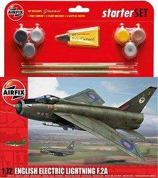 Британски изтребител - English Electric Lightning F.2A - Сглобяем авиомодел - комплект с лепило и боички -