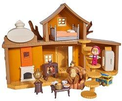 """Голямата двуетажна къща на Мечока - Комплект за игра от серията """"Маша и Мечока"""" - играчка"""