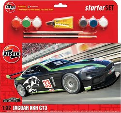 Състезателен автомобил - Jaguar XKRGT - Сглобяем модел - макет