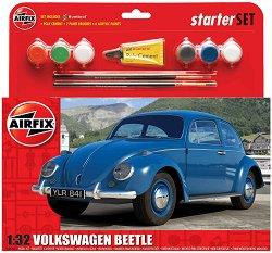 Автомобил - VW Beetle - Сглобяем модел - комплект с лепило и боички - макет