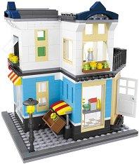 Мини детски конструктор - Магазин - Комплект от 458 части - играчка