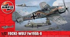 Германски военен самолет - Focke Wulf Fw190A-8 - Сглобяем авиомодел - макет