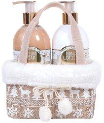 """Vivian Gray Golden Christmas - Подаръчен комплект с козметика за ръце от серията """"Romance Vanilla & Patchouli"""" - продукт"""