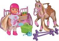 """Еви Лав с конче и конюшня - Комплект за игра с аксесоари от серията """"Steffi Love"""" - кукла"""