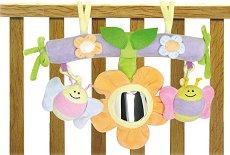 Пчелички и цвете - Мека играчка за кошара -