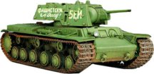 Съветски танк КВ-1 Ehkranami - Сглобяем модел -