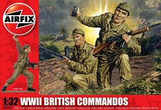 Британски командоси - Комплект от 14 фигури - макет