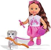 """Еви Лав с кученце - Комплект за игра с аксесоари от серията """"Steffi Love"""" - играчка"""