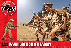 Британска 8-ма армия - Комплект от 14 фигури -