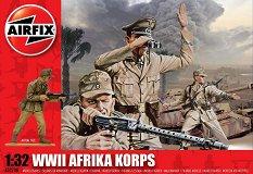 Германско африкански корпус - Комплект от 14 фигури - макет