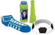 Лео Меси - Футболни балони - Комплект за игра с чорап и сапунени мехури - играчка