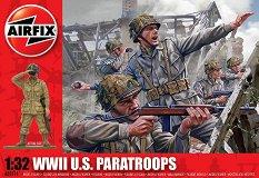 Американски парашутисти - Комплект от 14 фигури -