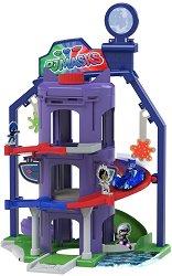 """Щаб квартирата на малките Пи Джей Маскс - Комплект за игра от серията """"PJ Masks"""" - играчка"""