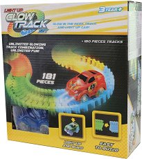 """Glow Track - 181 - Писта с количка от серията """"Asis: Фосфоресциращи писти"""" - играчка"""