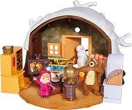 """Зимната къща на Мечока - Комплект за игра от серията """"Маша и Мечока"""" -"""