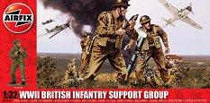 Британски отряд за подпомагане на пехотата - Комплект от 17 фигури - макет