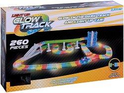 """Glow Track - 260 - Писта с количка от серията """"Asis: Фосфоресциращи писти"""" - играчка"""
