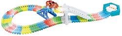 """Glow Track - 108 - Писта с количка от серията """"Asis: Фосфоресциращи писти"""" - играчка"""