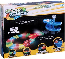 """Glow Track - 62 - Писта с количка от серията """"Asis: Фосфоресциращи писти"""" - количка"""