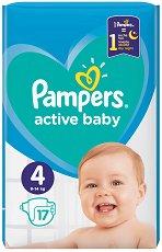 Pampers Active Baby 4 - Пелени за еднократна употреба за бебета с тегло от 9 до 14 kg -