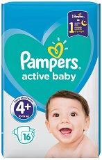 Pampers Active Baby 4+ - Пелени за еднократна употреба за бебета с тегло от 10 до 15 kg -