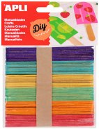 Декоративни цветни дървени пръчици - Комплект от 50 броя