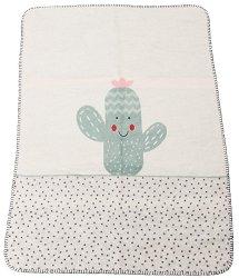 """Бебешко одеяло - Кактус - Размер 75 x 100 cm от серия """"Panda"""" -"""