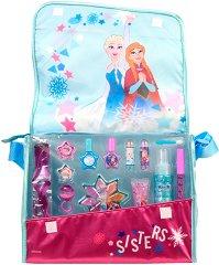 """Markwins International Disney Frozen Makeup Adventure - Детска чанта с гримове от серията """"Замръзналото кралство"""" - душ гел"""