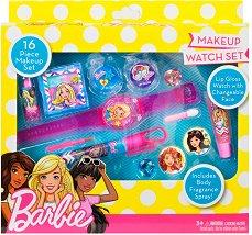 """Markwins International Barbie Makeup Watch Set - Детски комплект с гримове от серията """"Barbie"""" -"""