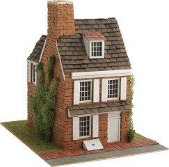 Вила на 3 етажа в английски стил - Сглобяем модел от истински тухлички - продукт