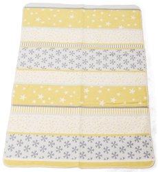 """Бебешко одеяло - Снежинки - Размери 75 x 100 cm от серия """"Maja"""" -"""
