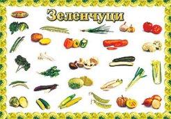 Зеленчуци - учебно табло - 38.5 x 26.7 cm -