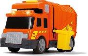 """Боклукчийски камион с контейнер - Играчка със звуков и светлинен ефект от серията """"Action"""" - играчка"""