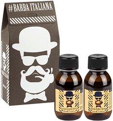 Подаръчен комплект за мъже - Barba Italiana - Шампоан и олио за брада - четка