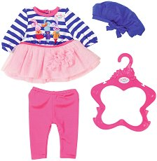 """Рокля, панталонки и шапка - Fashion Collection - Дрехи за кукли от серията """"Baby Born"""" -"""
